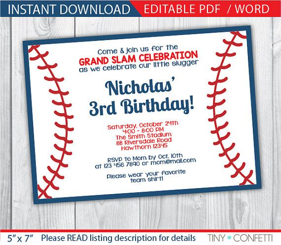 baseball themed birthday party invitation wording ; baseball-party-invitation-wording-best-25-baseball-party-invitations-ideas-on-pinterest-baseball-download