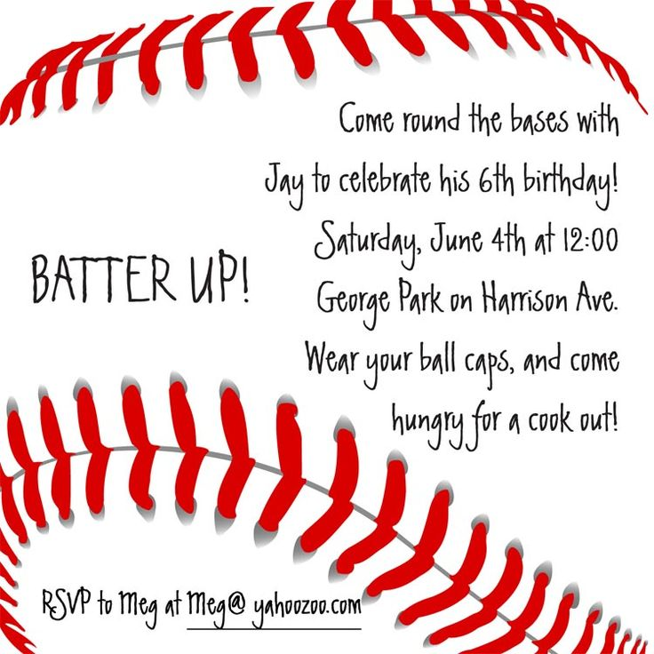 baseball themed birthday party invitation wording ; baseball-party-invitation-wording-best-25-baseball-party-invitations-ideas-on-pinterest-baseball-template