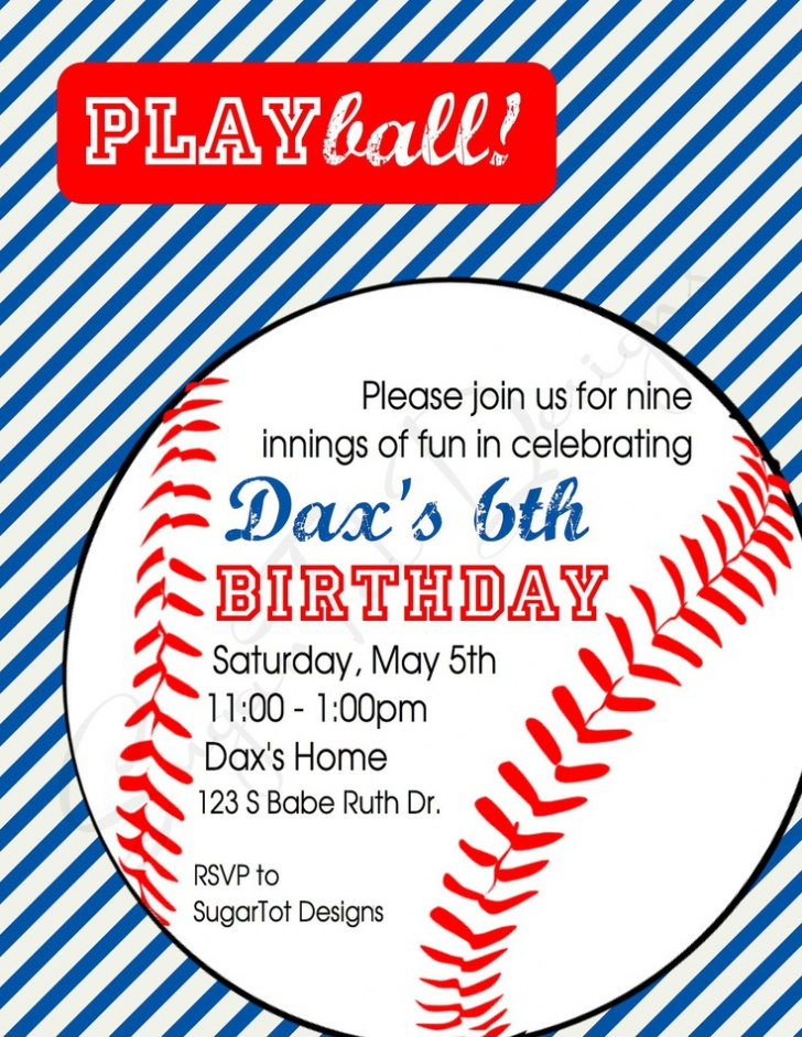 baseball themed birthday party invitation wording ; eba3fff39d04c69e0faed9892ae5cae2