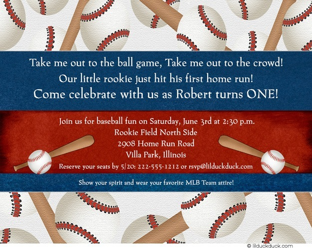 baseball themed birthday party invitation wording ; home-run-baseball-birthday-ball-game-invitation-1st