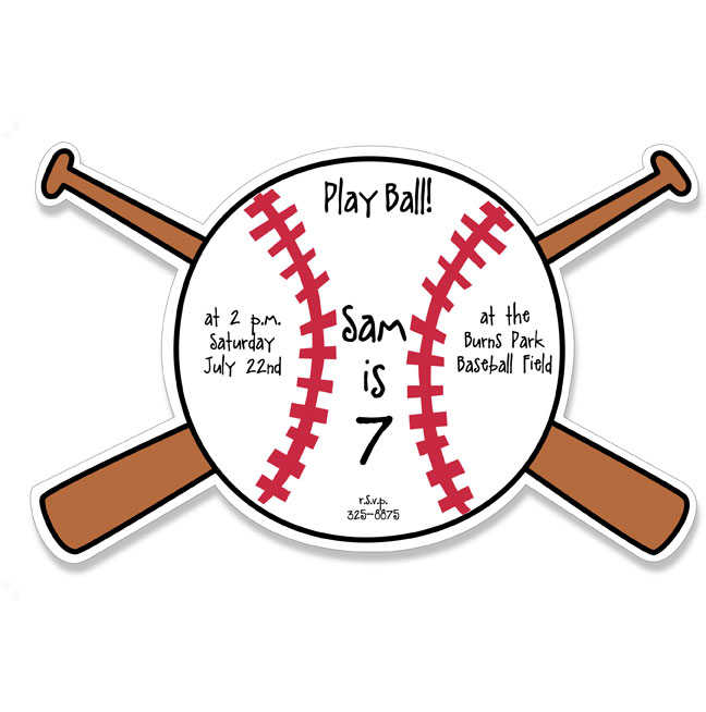 baseball themed birthday party invitation wording ; home-run-baseball-birthday