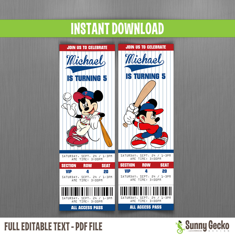 baseball themed birthday party invitation wording ; mickey%2520baseball-1000x1000