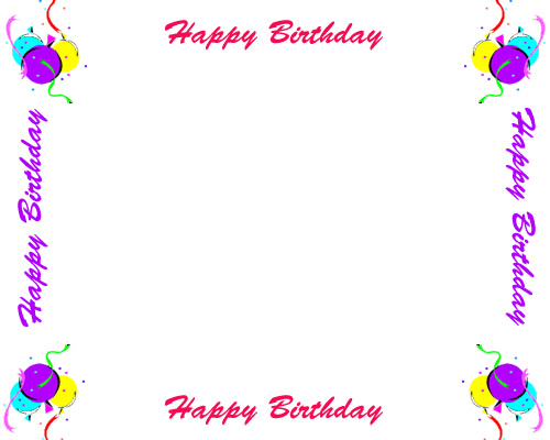 bday border ; free-birthday-borders-for-invitations-and-other-birthday-projects