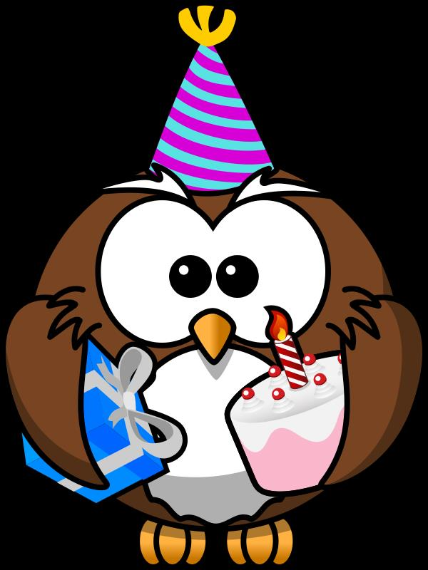 bday clipart ; birthday-owl