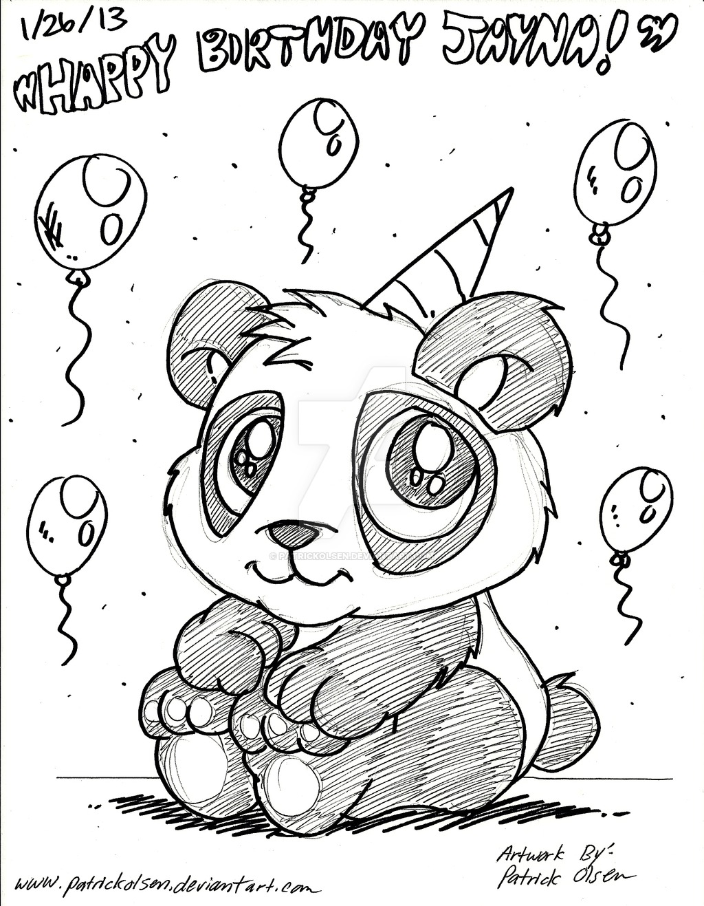 bday drawings ; drawn-birthday-panda-2