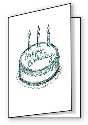 bday drawings ; make-your-own-birthday-cards