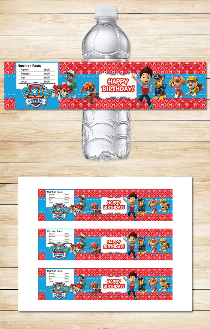 bday labels ; c3995e09d80d8c6f4b4bee38b3f12d57--drink-labels-paw-patrol-party-favors
