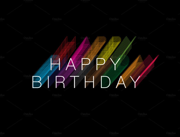 bday poster design ; Rainbow-Birthday-Poster-Template