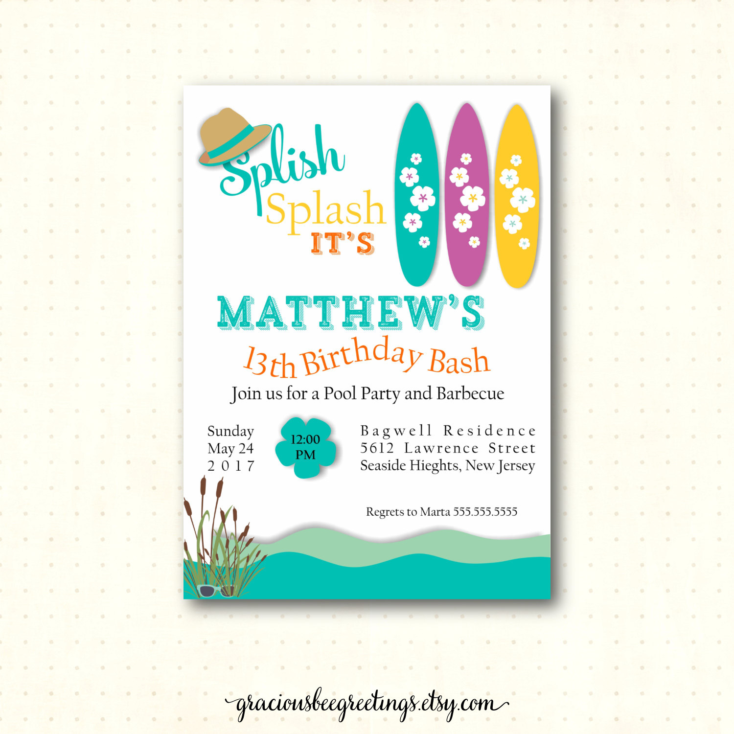 beach themed birthday party invitation wording ; 14Th-Birthday-Party-Invitations-and-get-inspiration-to-create-the-birthday-Invitation-design-of-your-dreams-1