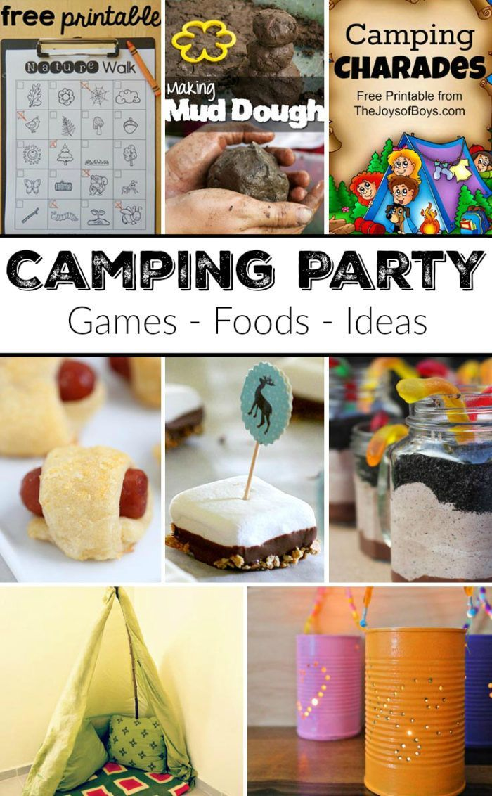 best birthday activities ; 5c7c4d939500ee5dbe15e0d4714f4468--camping-party-foods-camping-parties