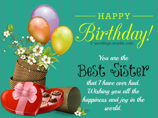 best birthday wishes message for sister ; a4b8934f1734bf9d9ab931594e34b31f