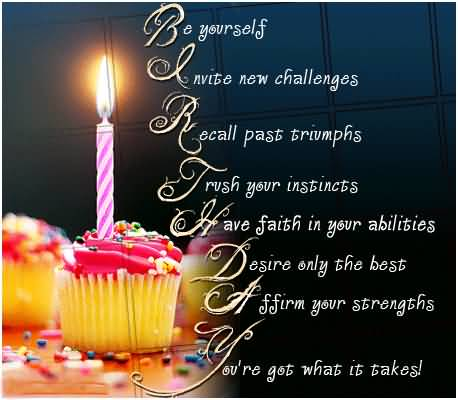 Best Birthday Wishes Poem Superb Cup Cake With