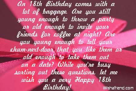 Best Wishes Message For 18th Birthday Wish You A Very Happy