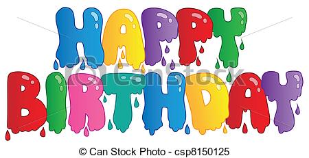 big happy birthday sign ; happy-birthday-painted-sign-clipart-vector_csp8150125