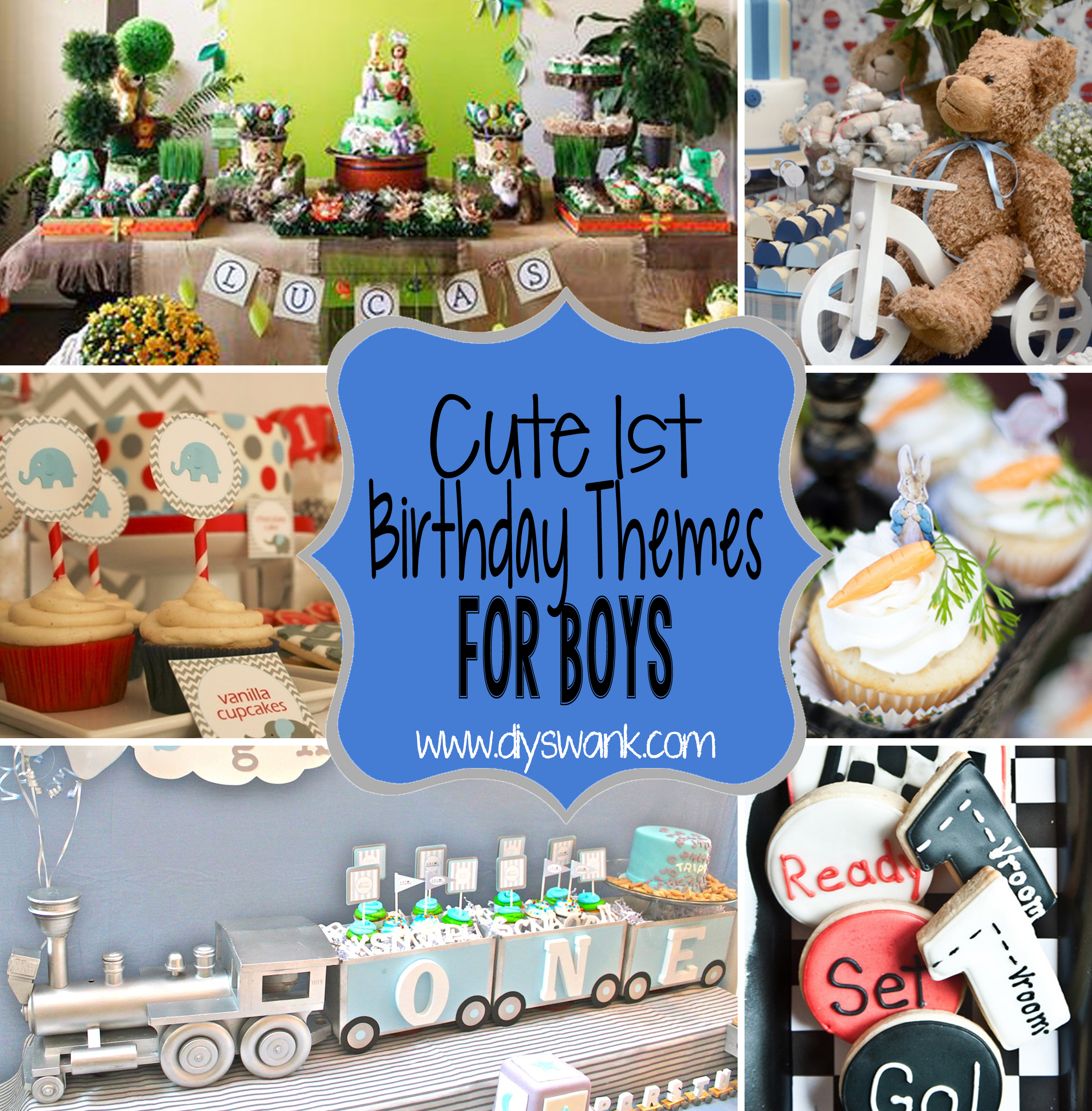 birthday activities for boys ; First-Birthday-Themes-for-Boys