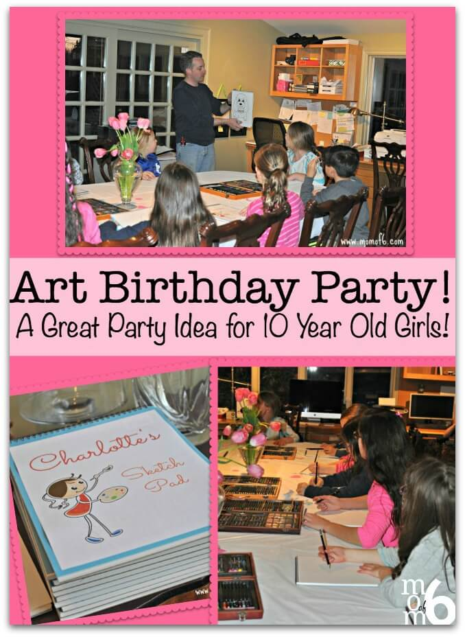 birthday activities for girls ; Art-BD-Party