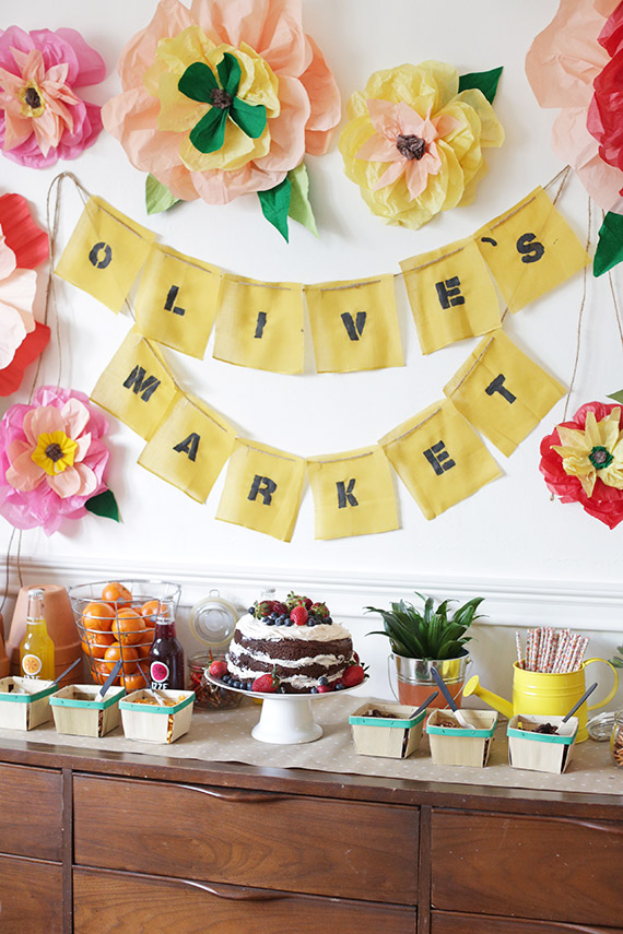 birthday activities for kids at home ; farmers-market-birthday-party-9