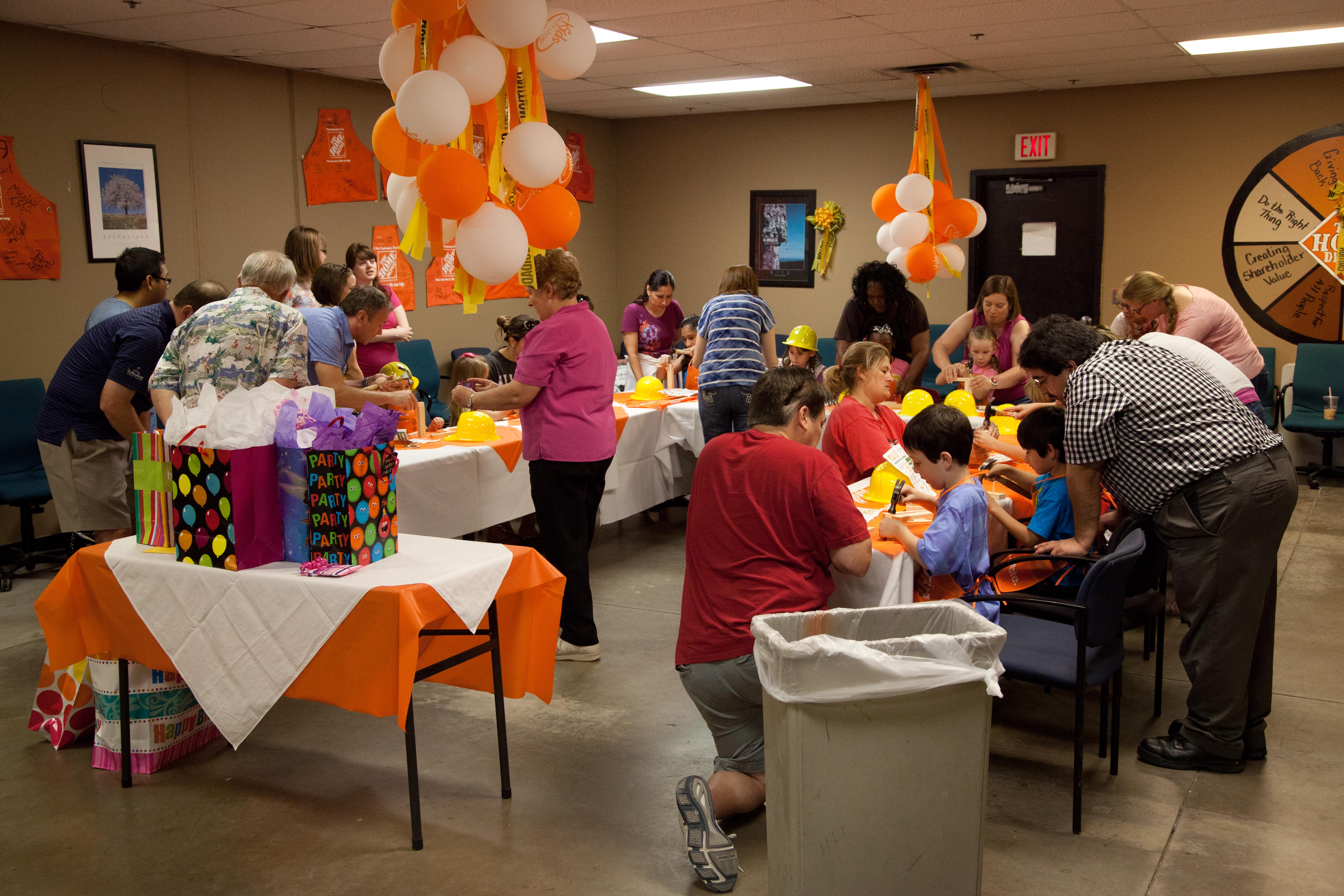birthday activities for kids at home ; home-depot-kids-workshop-party