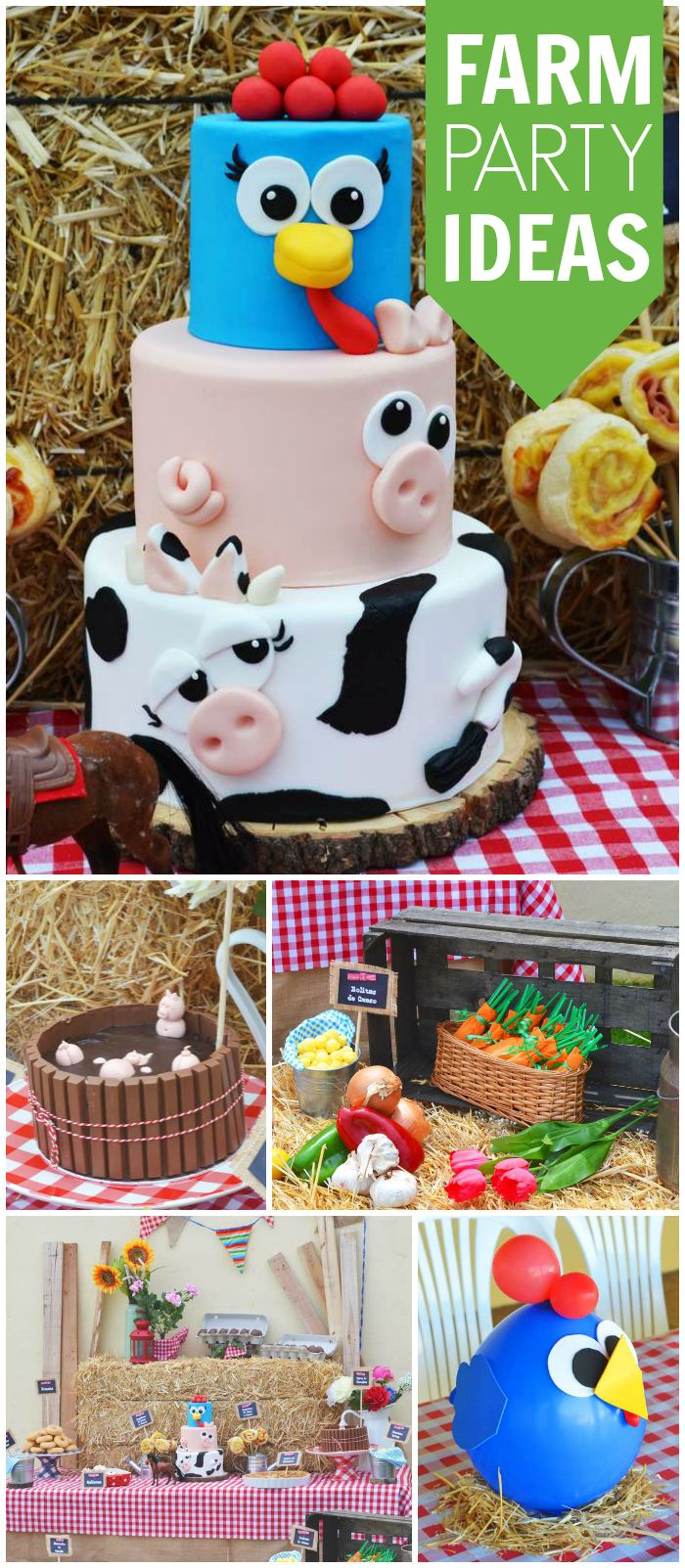 birthday activities for toddlers ; 7500b7c49e0c1a26aee73d80d9a03b1b--rd-birthday-farm-birthday-party-cakes