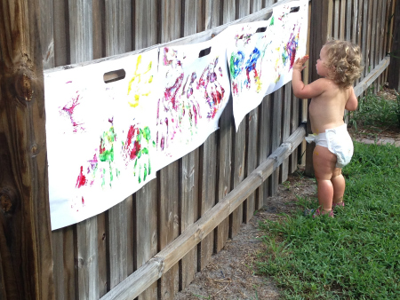 birthday activities for toddlers ; toddler-approved-painting-fly-swatting