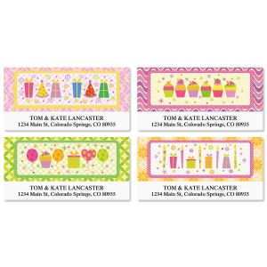 birthday address labels ; delightful-day-deluxe-address-labels-4-designs