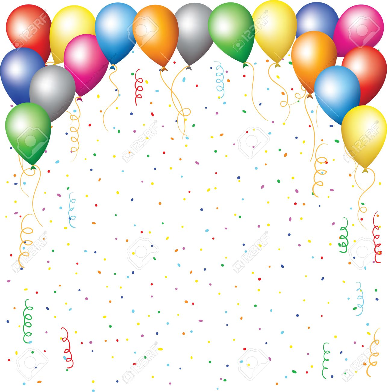 birthday background clipart ; 16355017-happy-birthday-background-with-balloons-confetti-and-serpantine