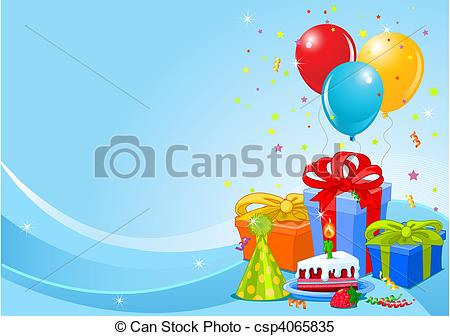 birthday background clipart ; birthday-party-background-clipart-vector_csp4065835