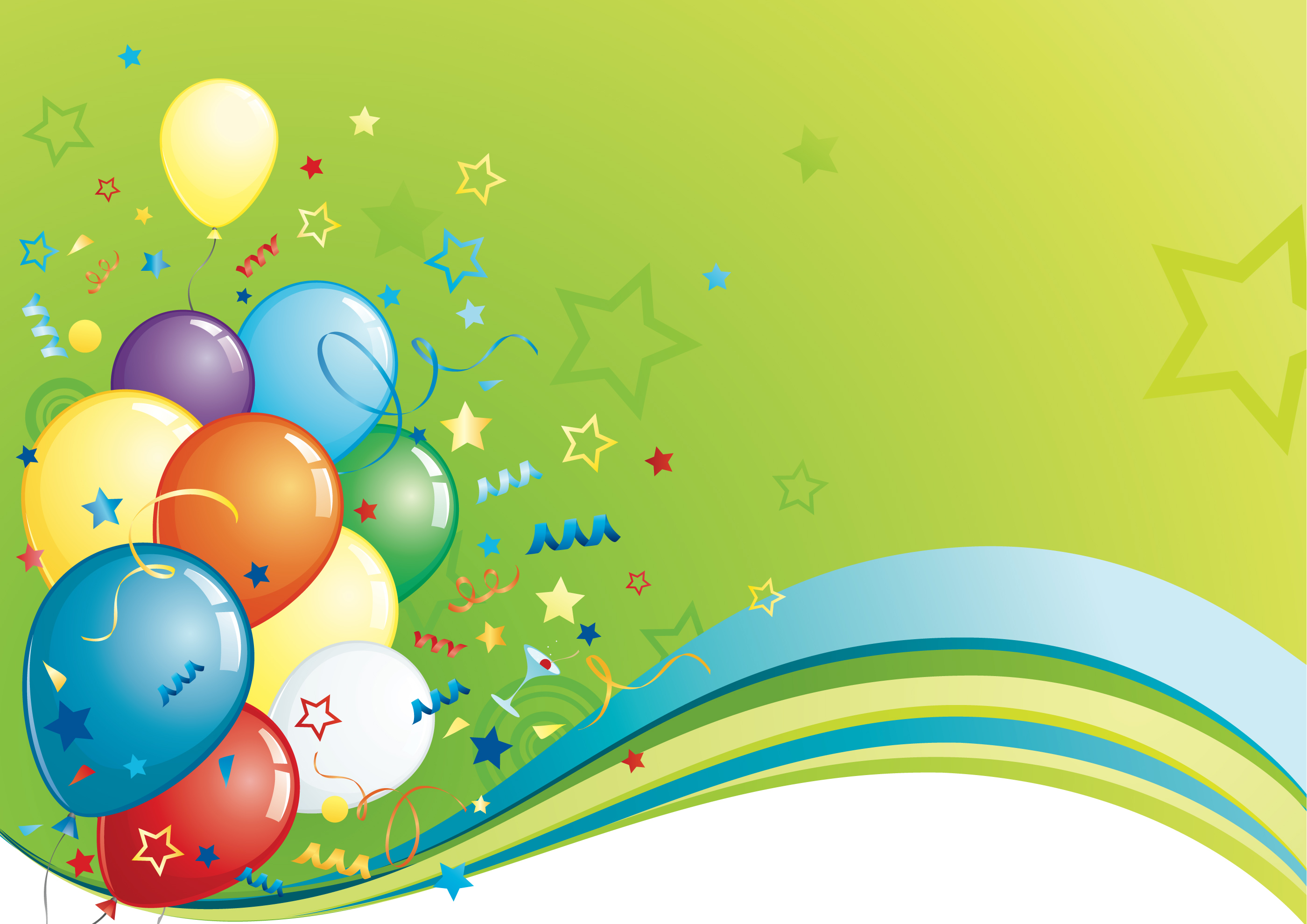 birthday background hd wallpapers ; Happy-birthday-color-green-balloon-hd-images-free-download