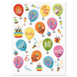 birthday balloon stickers ; 617131