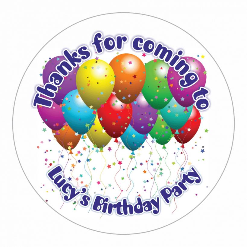 birthday balloon stickers ; BALLOON2-00