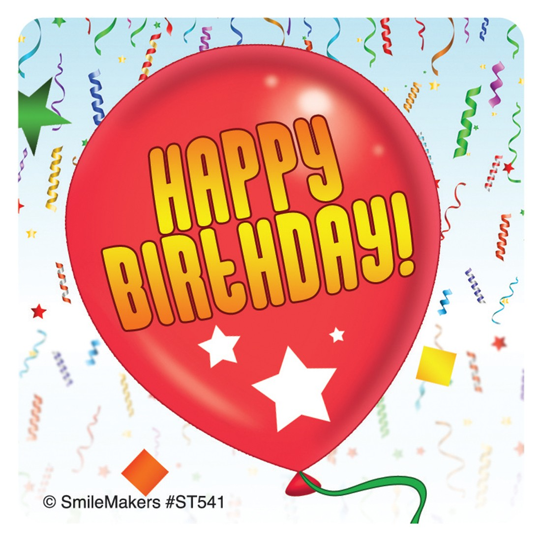 birthday balloon stickers ; ST541_2