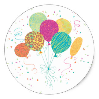 birthday balloon stickers ; animal_pattern_birthday_balloons_stickers-rdf51bc4671744f6fac2f3093e2048f2e_v9wth_8byvr_324