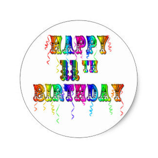 birthday balloon stickers ; happy_11th_birthday_balloon_stickers-r821c34e1eb084554bce39a25fc025262_v9waf_8byvr_324