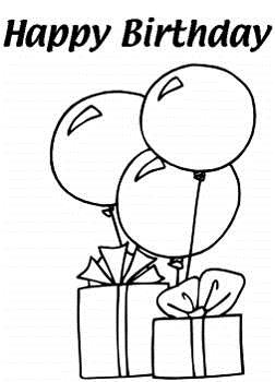birthday balloons drawing ; balloon-black-and-white-clipart-15