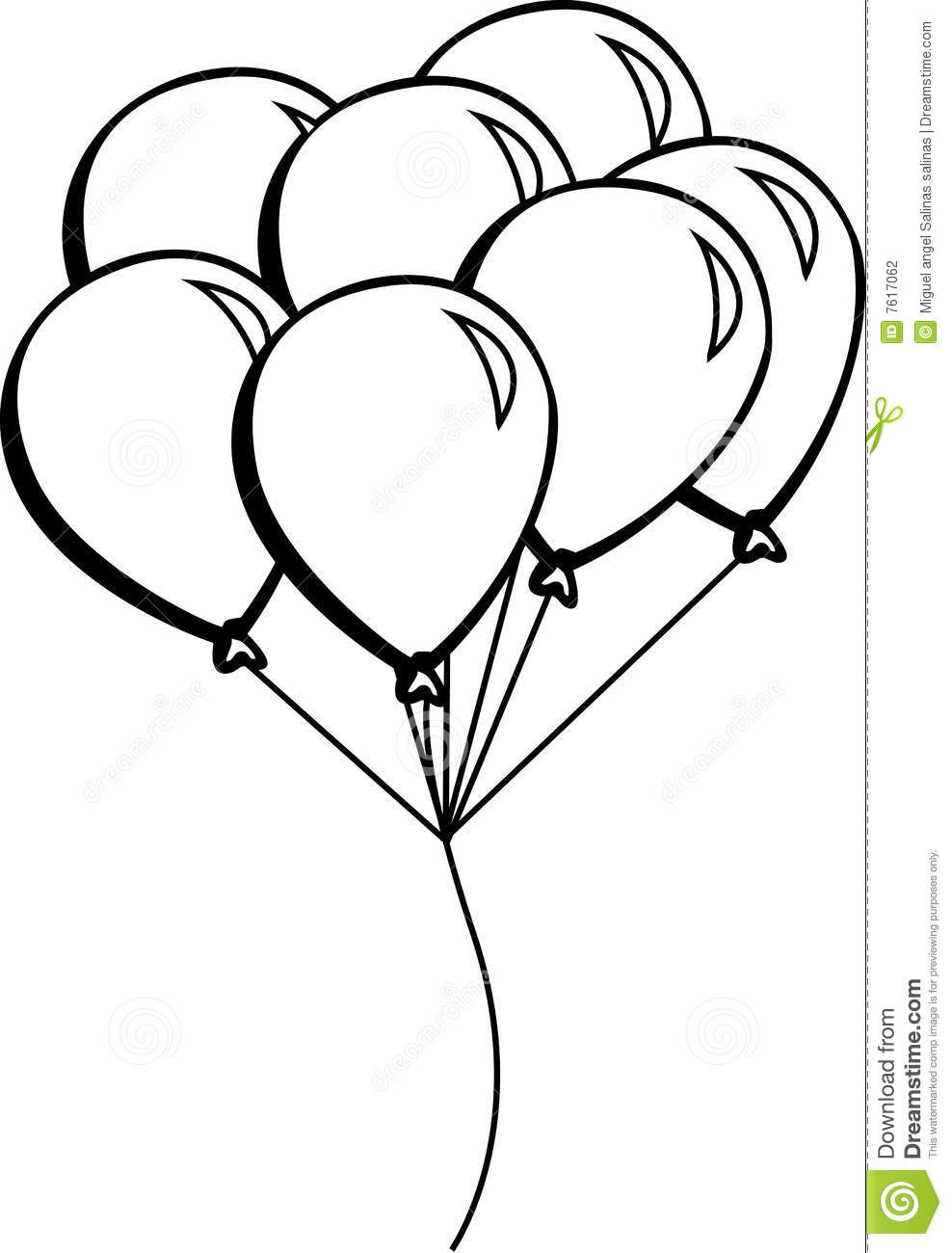 birthday balloons drawing ; balloons-vector-illustration-7617062