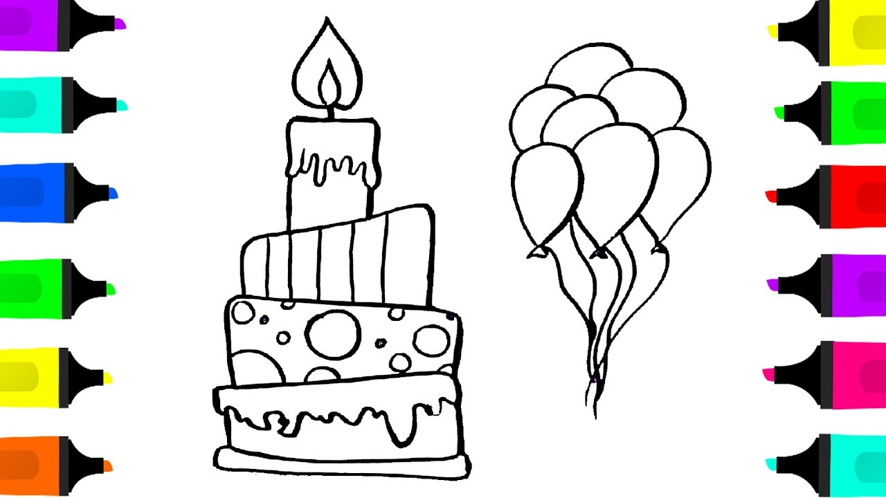 birthday balloons drawing ; maxresdefault