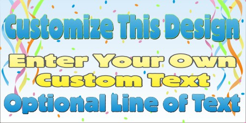 birthday banner design templates ; ConfettiBanner