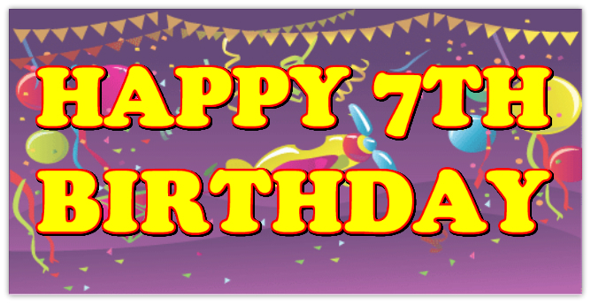 birthday banners and signs ; 45765