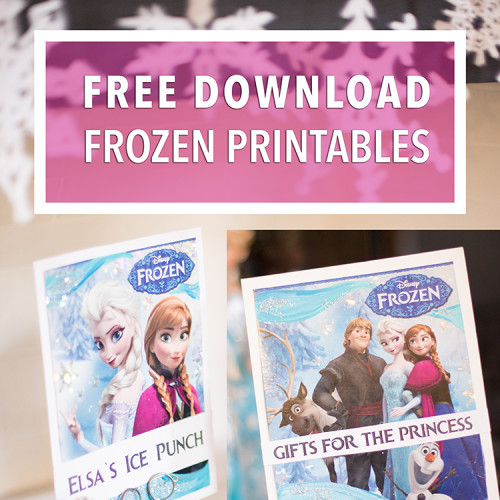 birthday banners and signs ; frozen-downloads-square-e1457920739399