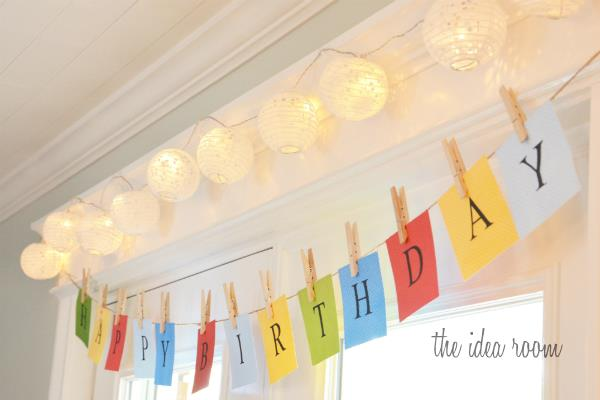 birthday banners and signs ; happy-birthday-banner