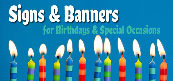 birthday banners and signs ; header-copy