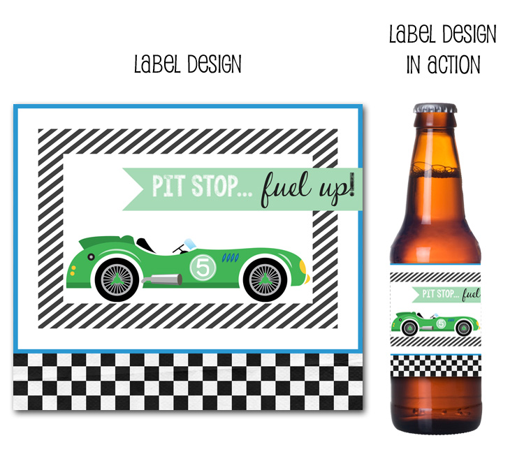 birthday beer labels ; 2racecarbeer