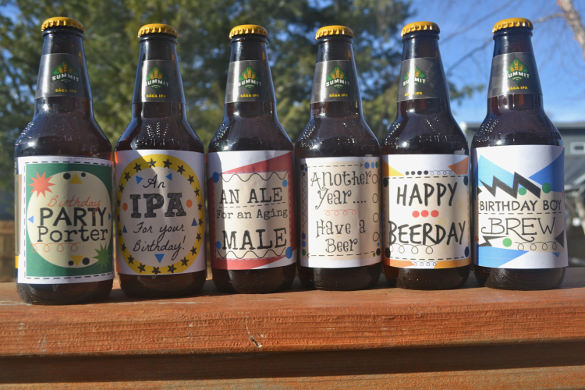 birthday beer labels ; Birthday-Beer-Labels-