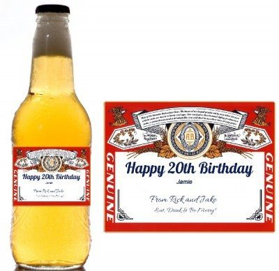 birthday beer labels ; custom-beer-labels-400x389
