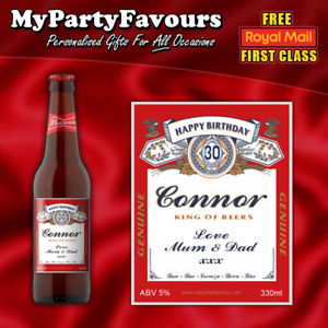 birthday beer labels ; s-l300