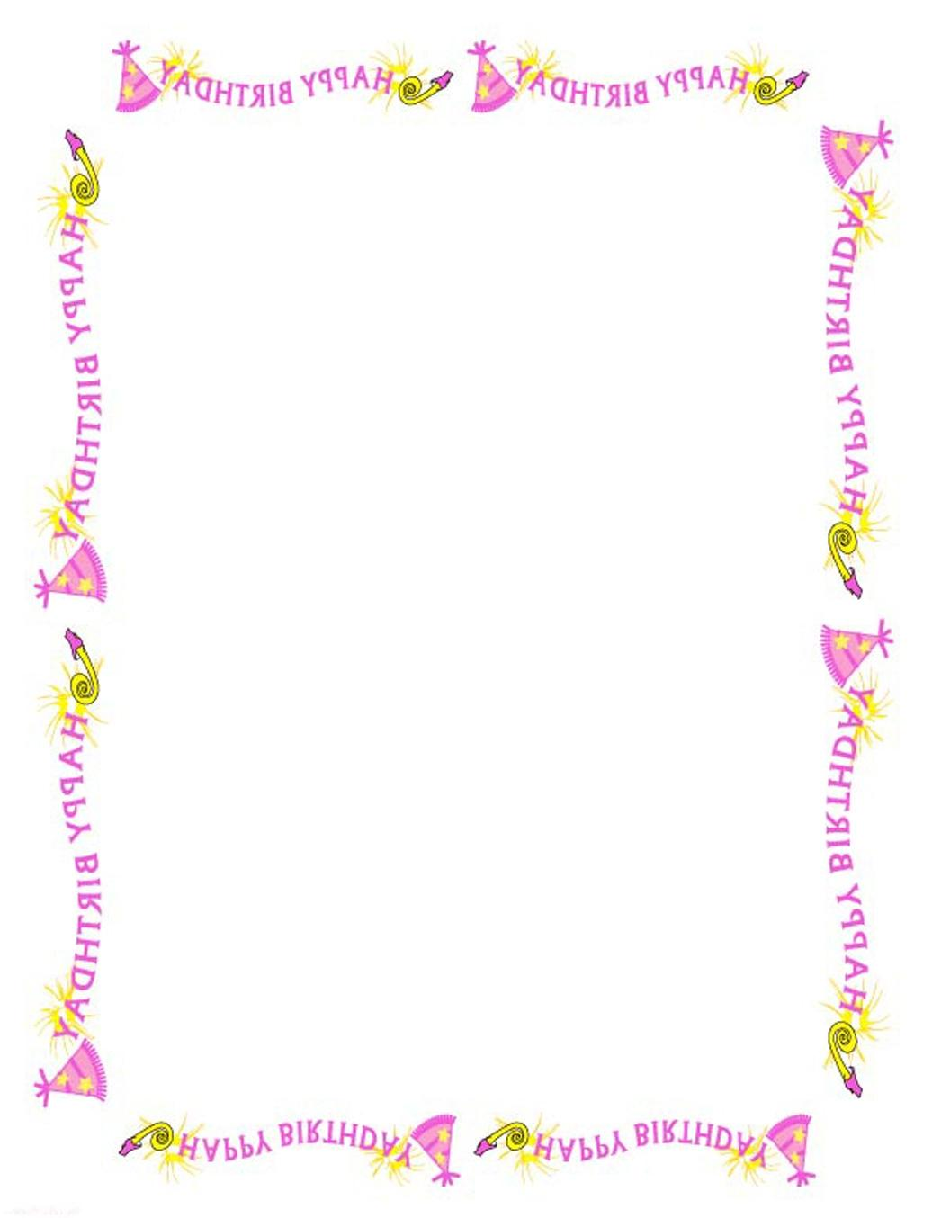 birthday border ; best-free-birthday-border-clipart-borders-and-frames-drawing