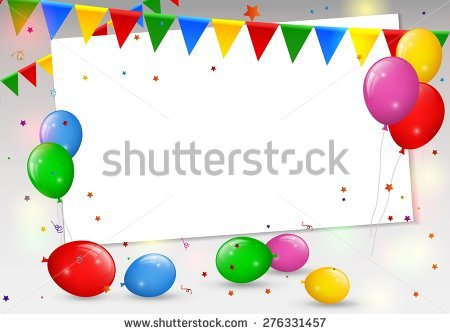 birthday border ; stock-vector-birthday-card-with-colorful-balloons-276331457