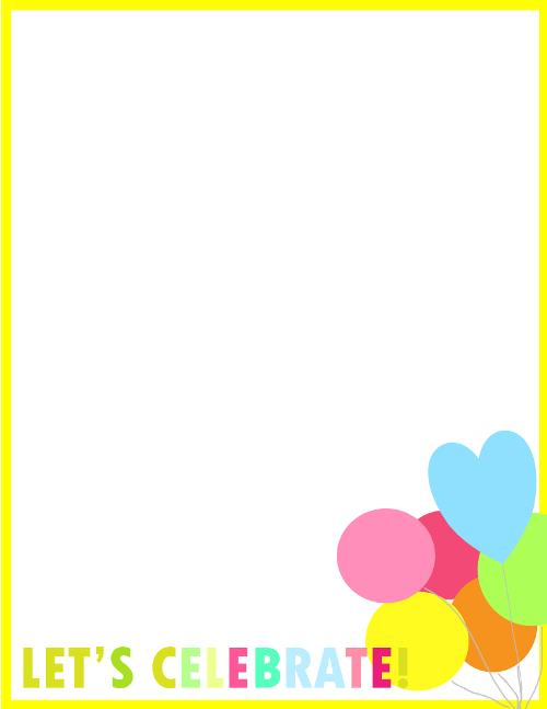 birthday border design ; Fresh-designs-birthday-borders-for-invitations-and-more-3