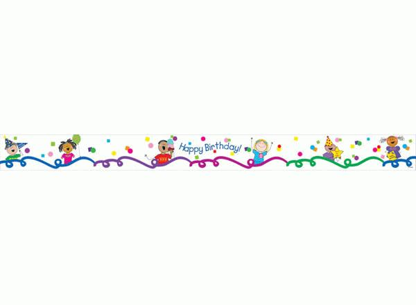birthday border design ; stick-kids-birthday-border-23