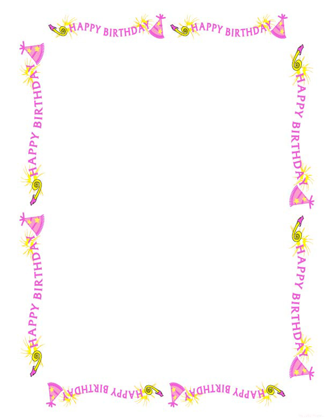 birthday border template ; clipart-borders-for-teens-9